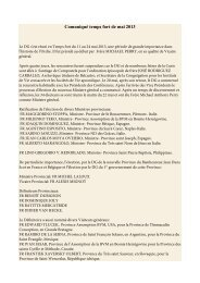 Le DG s'est réuni en Temps fort du 11 au 24 mai 2013 - OFM