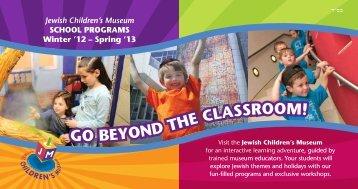 School Programs 2012-2013 Brochure - Jewish Children's Museum