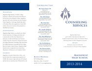 Counseling Informational Brochure - Magnificat High School