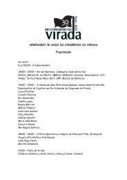 SEMINÁRIO 30 ANOS DO CONGRESSO DA VIRADA ... - CFESS