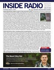 news INSIDE >> Thursday, August 1, 2013