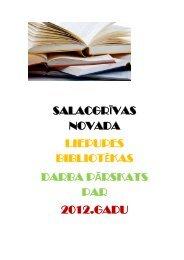 Salacgrīvas novada Liepupes bibliotēkas 2012. gada pārskats