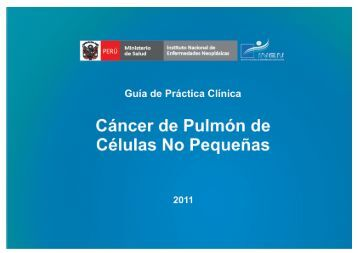 CANCER PULMON.indd - Instituto Nacional de Enfermedades ...