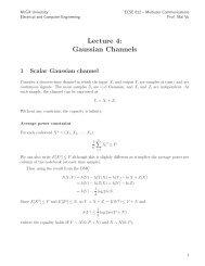 Lecture 4 - Multiuser Communications - McGill University