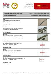 ERSATZTEILPREISLISTE SOLUTION SOLution spare parts list Liste ...