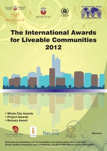 The International Awards for Liveable Communities 2012