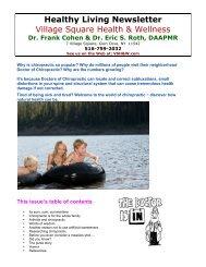 Healthy Living Newsletter Village Square Health & Wellness