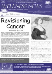 May 2005 Wellness News.indd - Cancer Support Association of WA