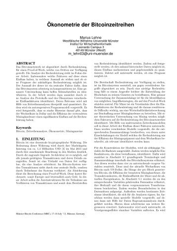 Paper - Department of Information Systems - Westfälische Wilhelms ...