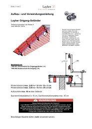 AuV Ortgang-Geländer - Layher Bautechnik Onlineportal