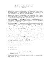 Podstawy programowania - Zestaw 1