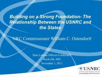 Commissioner Ostendorff: Keynote address - Blsmeetings.net
