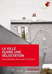 Vélostation, place de Montbrillant - flyer et plan - Ville de Genève