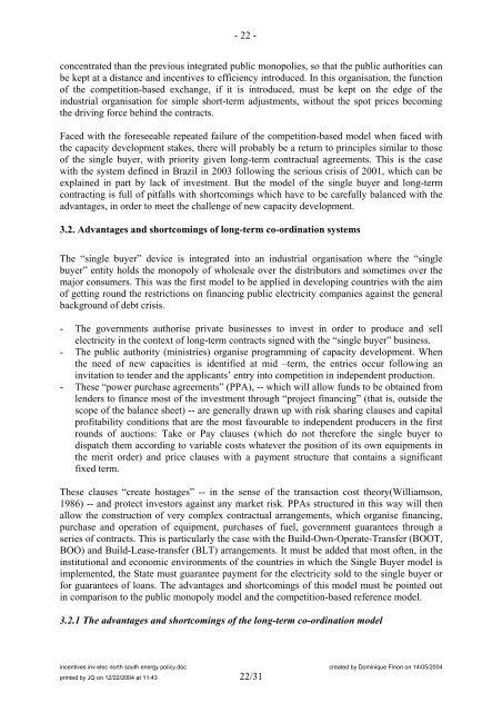 Partie 2 ou 3 Nouvelle conomie lectrique - Centre International de ...