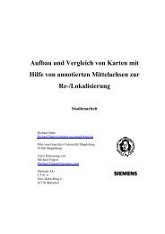 Studienarbeit - Otto-von-Guericke-Universität Magdeburg