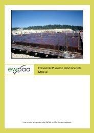 Formwork Plywood Identification Manual