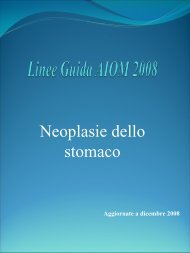 Linee Guida AIOM (Associazione Italiana di Oncologia Medica)