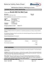 Bostik 6503 Hot Melt Cups - All Fasteners