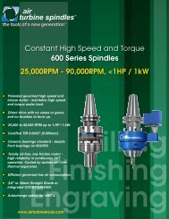 Constant High Speed and Torque 600 Series Spindles ... - Nortools