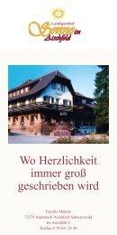 Hausprospekt als PDF - Landgasthof Sonne im Aischfeld