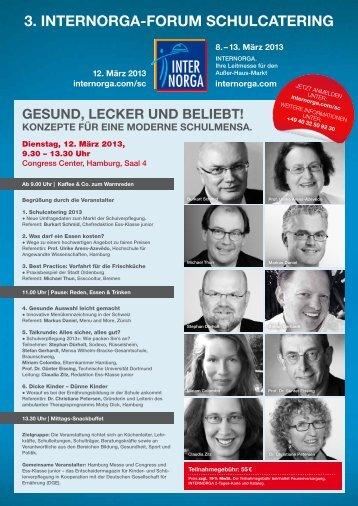 Programm_Anmeldung_Forum Schulcatering 2013_f.pdf - Schule + Essen ...