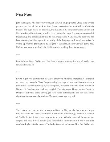 News Notes - El Palacio Magazine
