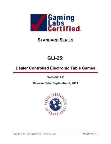 GLI-25: - Gaming Laboratories International