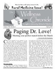 Wellness Chronicle Template Spring 2005.pub - Creighton University