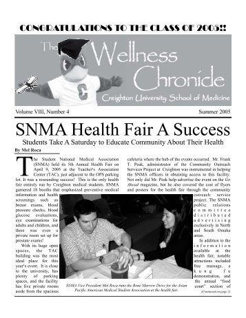 Wellness Chronicle Template Summer 2005.pub - Creighton ...