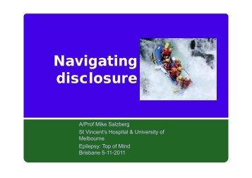 Navigating disclosure