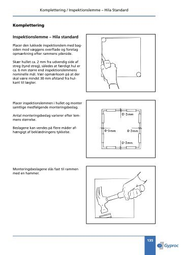 Komplettering Inspektionslemme – Hila standard - Gyproc