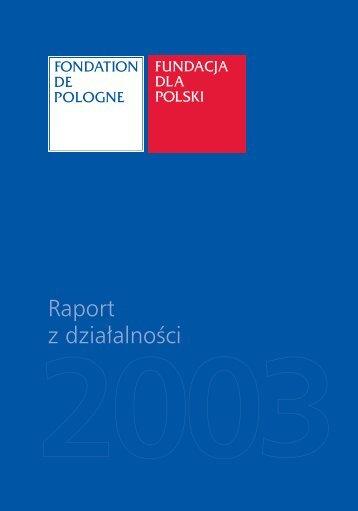 Raport za 2003 r. - Bazy NGO - NGO.pl