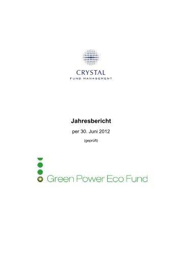 Jahresbericht - Crystal Fund Management AG
