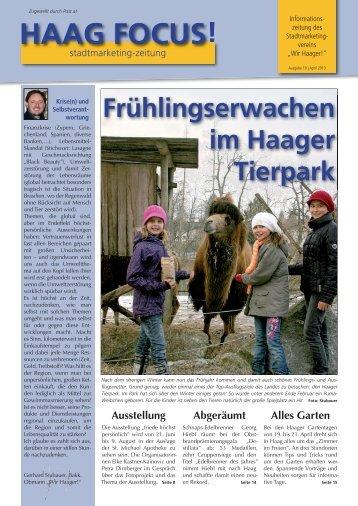 Haag Focus! 1/2013 - Wir Haager!