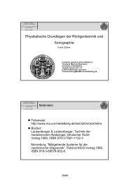 Physikalische Grundlagen der Röntgentechnik und Sonographie