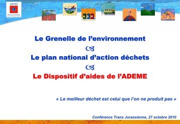 Présentation ADEME - P-M. Guinchard - Arc Jurassien