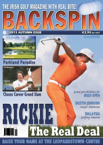 Pictured - Backspin Golf Magazine