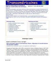 Bulletin num. 14 du 08-09-2009 - Institut des Amériques