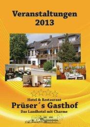 Veranstaltungen 2013 - Prüser´s Gasthof