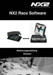 Bedienungsanleitung NX2 Race Software