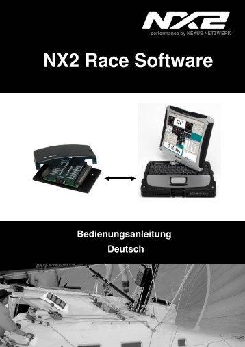 Bedienungsanleitung NX2 Race Software