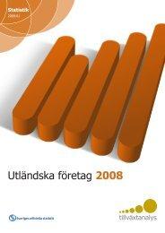 Utländska företag 2008 - Tillväxtanalys