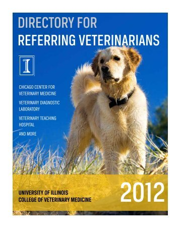 DIRECTORY FOR REFERRING VETERINARIANS - University of ...