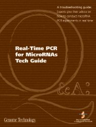 Real-Time PCR for MicroRNAS Tech Guide - GenomeWeb