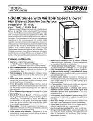 FG6RK Series with Variable Speed Blower - Nordyne