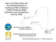 New York State Urban and Rural Measurements of ... - MARAMA