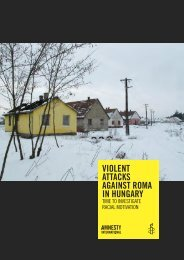 violent attacks against roma in hungary - Amnesty International