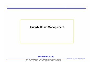 Supply Chain Management - Prof. Dr. Heinz-Michael Winkels