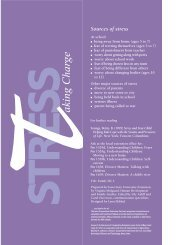 Stress-Taking Charge: Helping Children Manage ... - Network Of Care