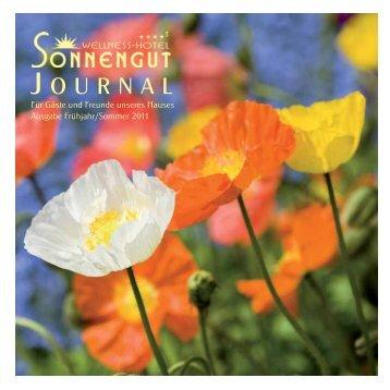 J OURNAL - Wellnesshotel Sonnengut